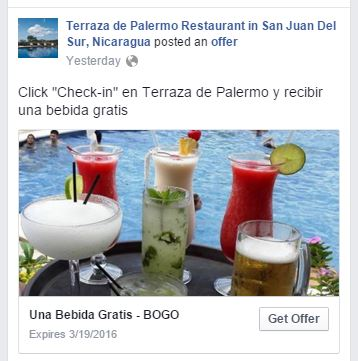Facebook Check-In Promotion
